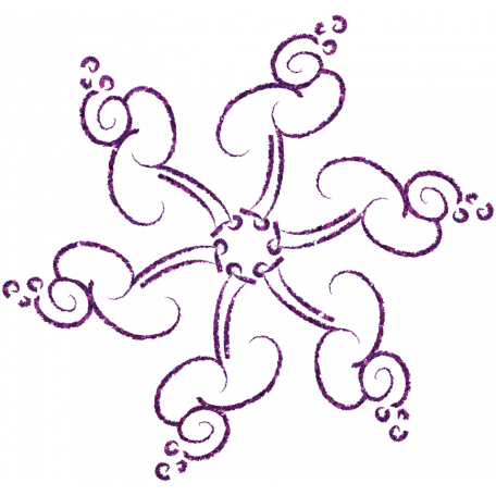 Touch of Sparkle Christmas Snowflake Purple 02