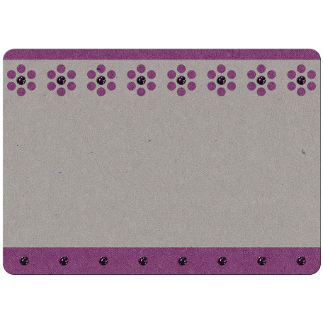 Touch of Sparkle Christmas Card Purple