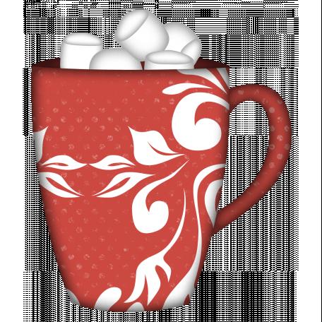 Snow Day Mug Red Marshmallows