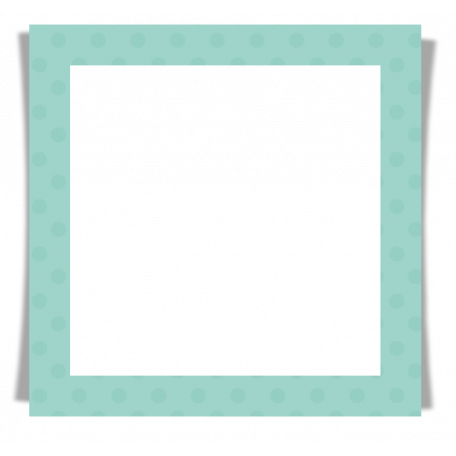 Snow Day Frame Teal