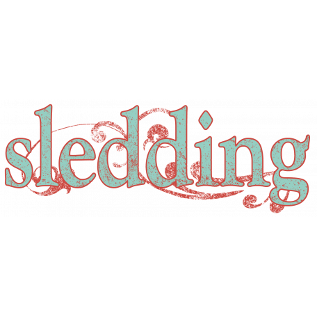 Snow Day Sledding Word Art