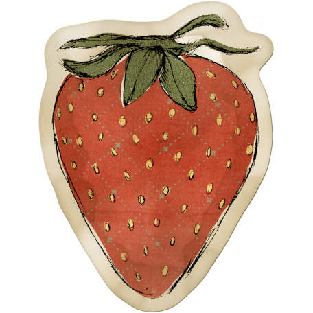 Kitchen Sticker Strawberry Stained