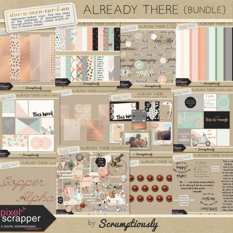 Already There kit for digital scrapbooking, pocket scrapping by Scrumptiously at Pixel Scrapper