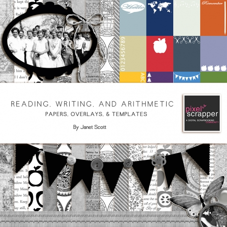 Reading, Writing, and Arithmetic - Papers, Templates, and Overlays Bundle