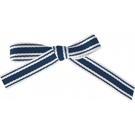 Our House - Blue & White Striped Bow