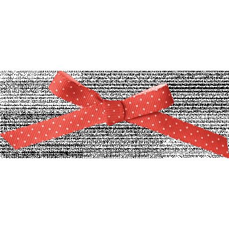 Sweater Weather - Salmon Polka Dot Ribbon Bow