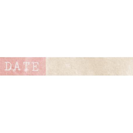 Jane - Word Art - Pink Date Label