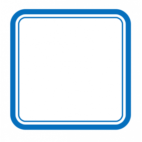 Pocket Basics 2 Label Layered Template Square Rounded Corners