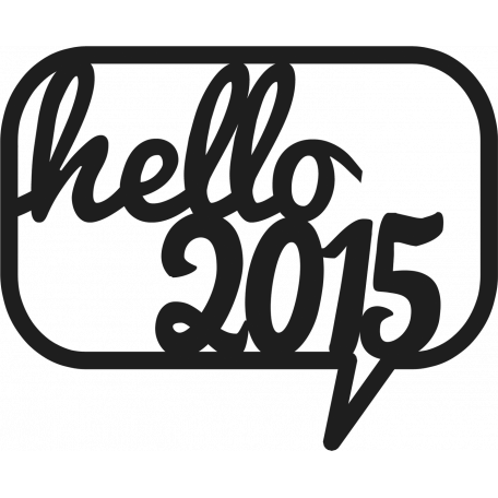 Hello 2015 Cut-Out Template