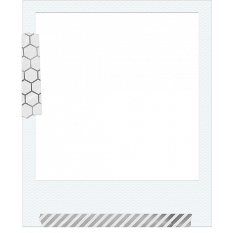 Already There Layered Frame Template Taped Polaroid