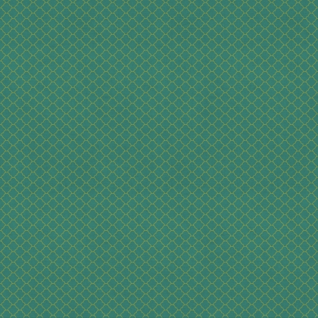 Bright Days Quatrefoil Papers - Green on Teal