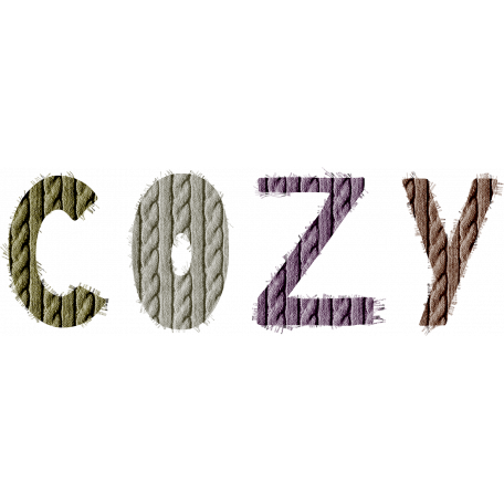 Autumn Day Word Art - Cozy (Frayed) graphic by Violet ...