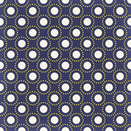 Back To School: Paper, Pattern Dots 06 White, Blue & Yellow