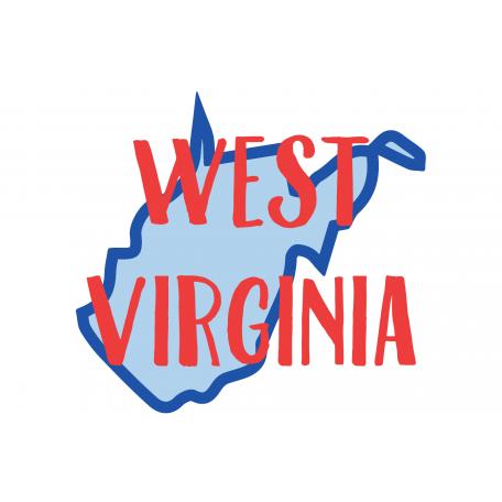 Journal Card West Virginia 4x6