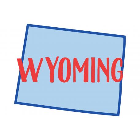 Journal Card Wyoming 4x6