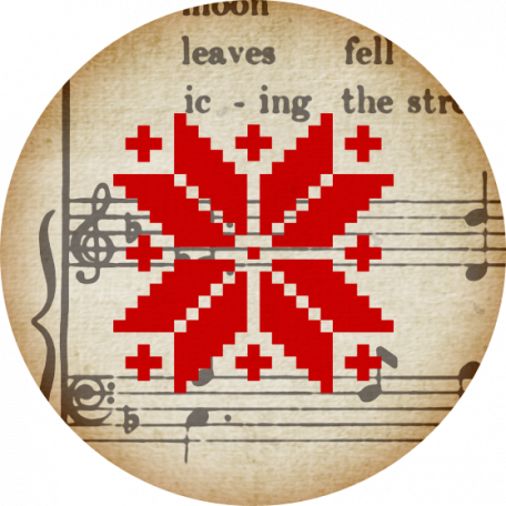 A Little Sparkle {Elements} - Red Snowflake and Brown Music Tag