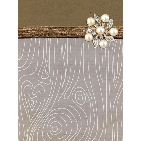 Woodland Winter - Brooch Journal Card