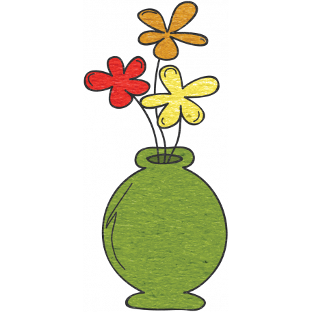 Look A Book Vase Doodle Graphic By Janet Kemp Pixel Scrapper Digital Scrapbooking