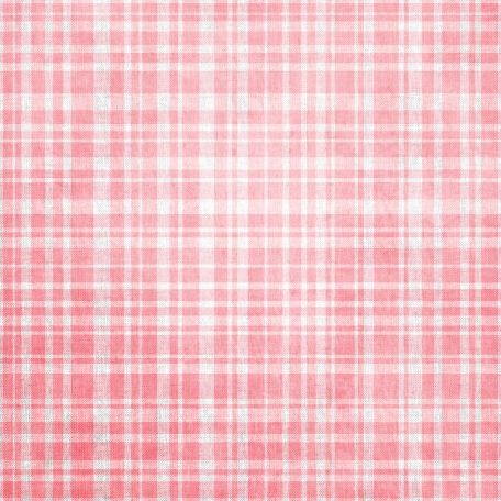 Be Mine - Light Pink Plaid Fabric Paper