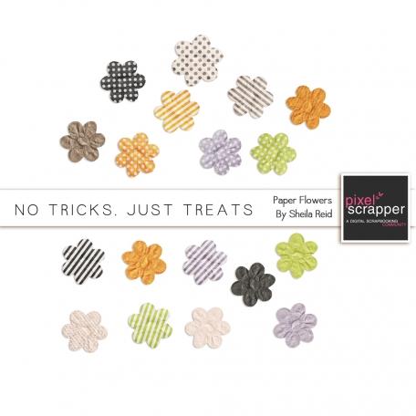 No Tricks, Just Treats Paper Flowers Kit