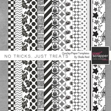 No Tricks, Just Treats Overlay/Paper Templates Kit
