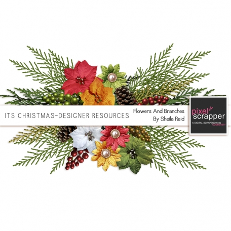 Its Christmas-Designer Resources-Flowers And Branches Kit