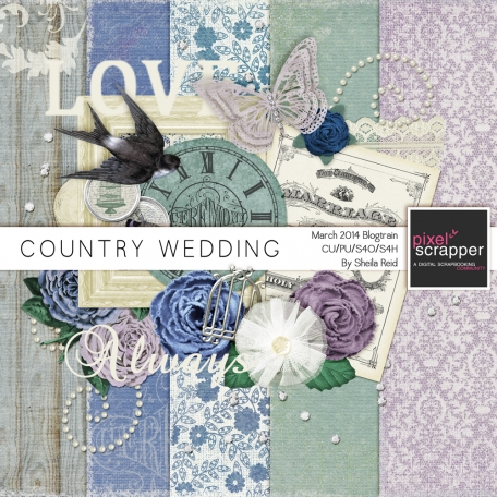 Country Wedding- March 2014 Blog Train Mini Kit