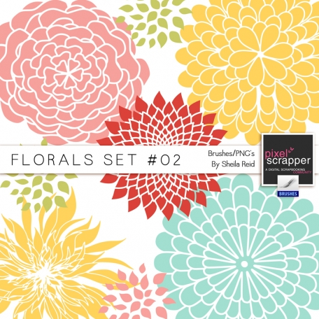 Florals Set #02 Brushes/PNG's Kit