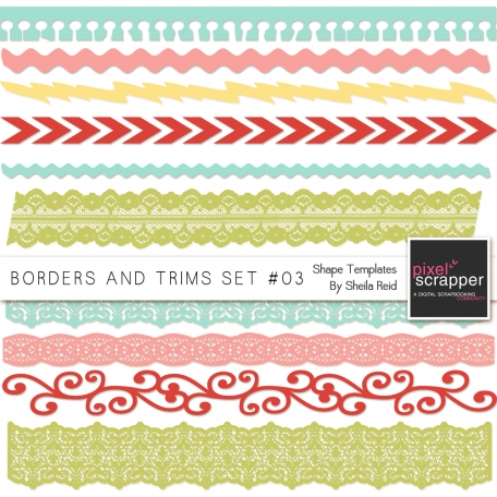 Borders And Trims Set #03 Shape Templates