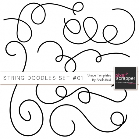 String Doodles Set #01 Shape Templates
