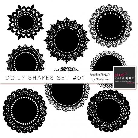 Doily Shapes Set #01 Templates Kit