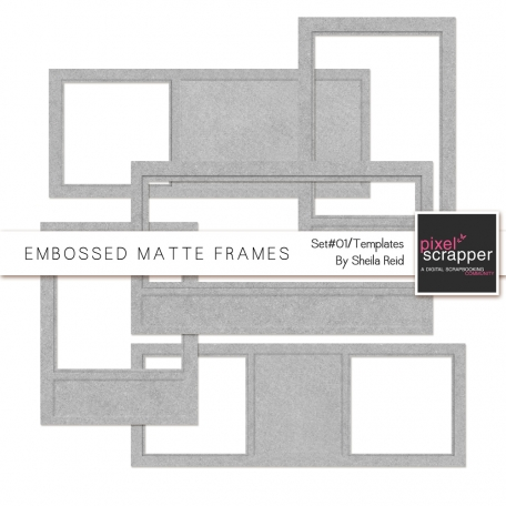 Embossed Matte Frames-Set#01 Templates Kit