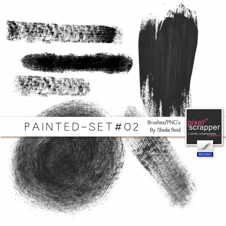 Painted Set #02 Brushes/PNG's Kit