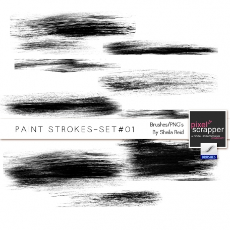 Paint Strokes Set #01 Brushes/PNG's Kit