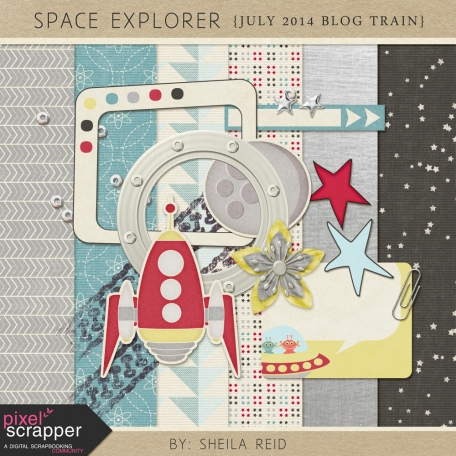 Space Explorer July 2014 Blog Train Mini Kit
