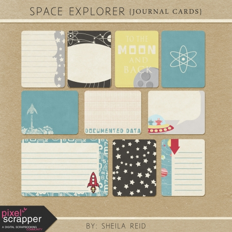 Space Explorer Journal Cards Kit
