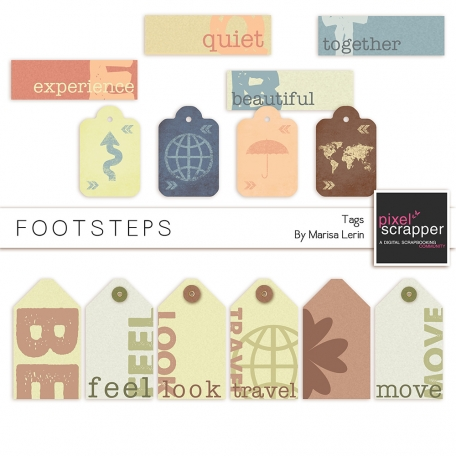 Footsteps Tags Kit