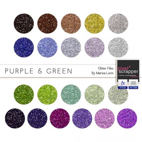 Purple & Green Glitters Kit