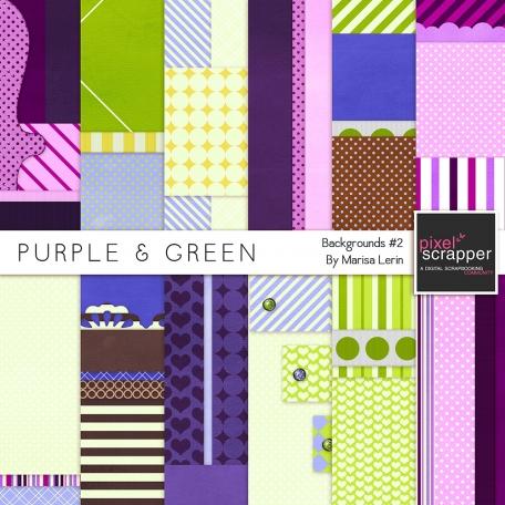 Purple & Green Backgrounds #2 Kit