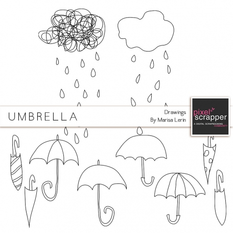 Umbrella Doodles Kit