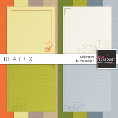 Beatrix Solid Papers Kit