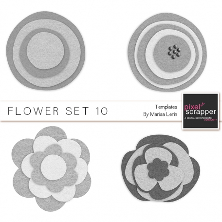 Flower Templates Kit #10 - Felt