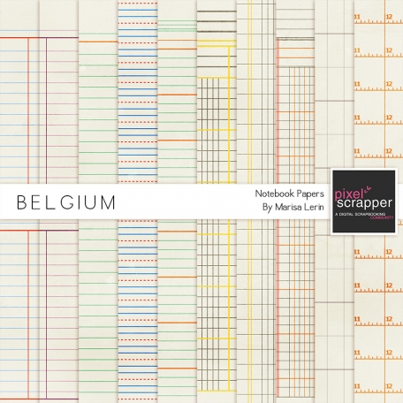 Belgium Notebook Papers Kit