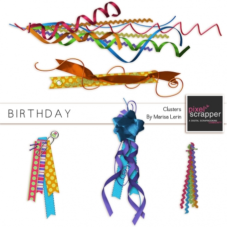 Birthday Ribbon Clusters Kit
