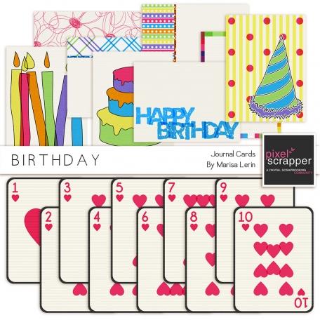 Birthday Journal Cards Kit
