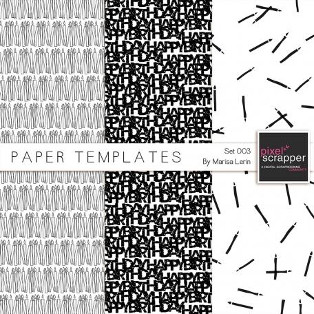 Paper Templates 003 Kit