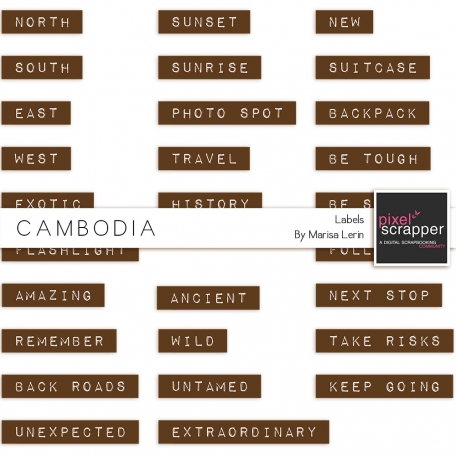 Cambodia Labels Kit #1