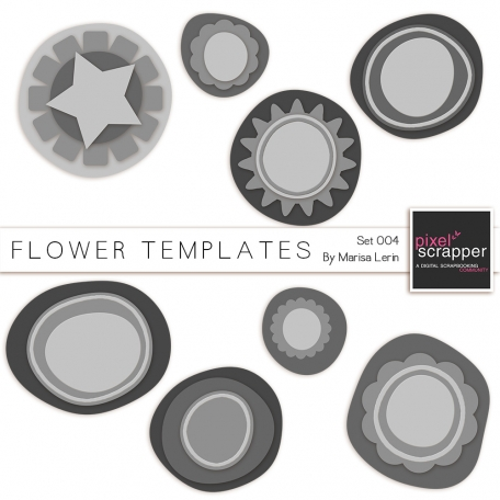 Flower Templates Kit #4