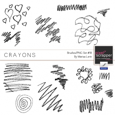Brush Kit #18 - Crayons