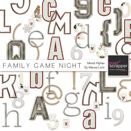 Family Game Night Mixed Alphas Kit